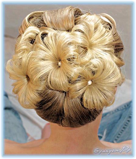 Причёска на праздник на дому