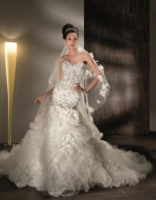 Самые пышные свадебные платья для
