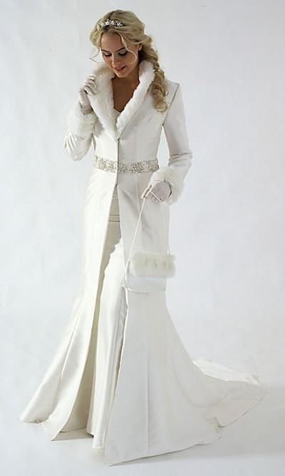 свадебные платья на холодную погоду