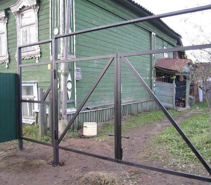 Ворота из профильной трубы без сварки своими руками