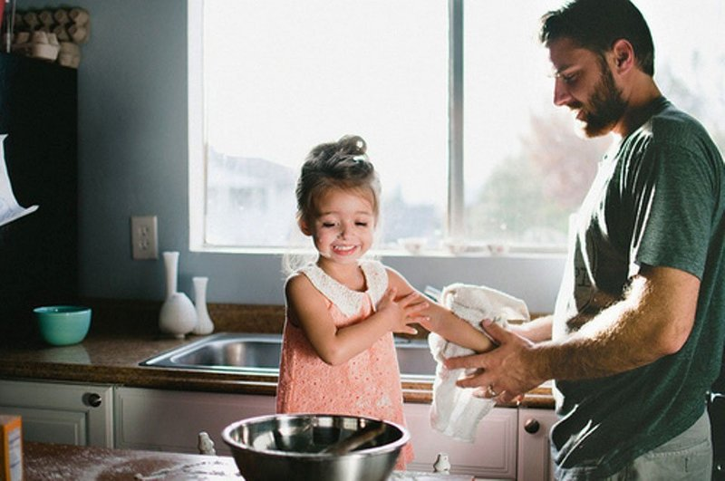 фото папа с маленькой дочкой