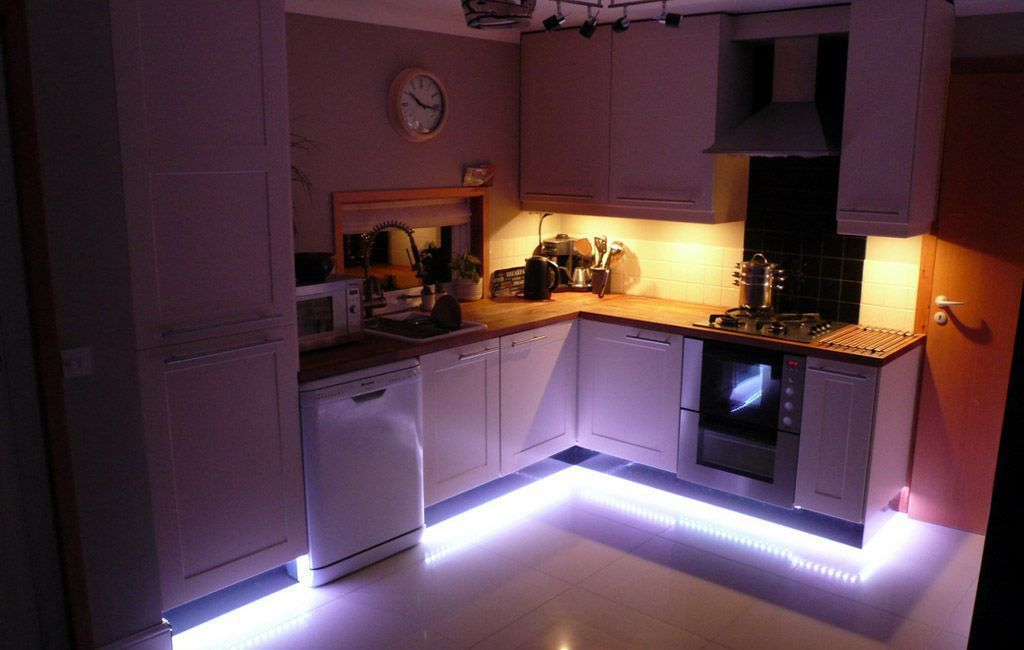 Установка светодиодной ленты своими руками на кухне